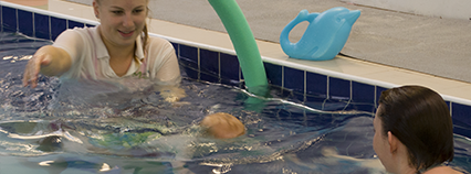 Parent and toddler swimming lessons
